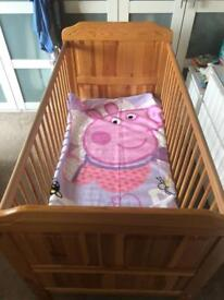 Baby pine Bed cot for sale