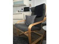 Ikea grey easy chair (cover 3 months old) pick up in ramsgate only