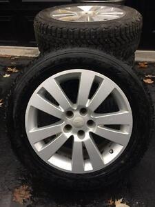 4 mags 18po Subaru Outback-Tribeca(TPMS) et pneus 225/60/18 hiver
