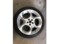 17 inch Alfa 147 Alloy wheel with a Michelin 215/45/17 Tyre