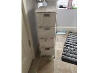 4-Drawer Storage Cabinet for Bedroom/Bathroom, White