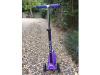 Child's Deluxe Micro Scooter (Maxi) Very Good Condition (£125 RRP New)