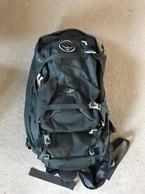 Osprey farpoint 70 litre backpack with day bag.