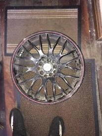 Alloyed wheels