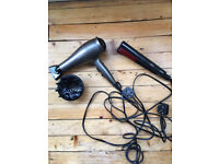 Philips Ionic ProVolume Hair dryer and Philips TreSemme Hair Straighteners