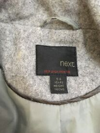NEXT grey coat 5-6 y/o for girls (used)