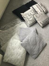 Bundle of grey and black home furnishings
