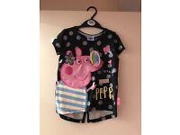 Peppa pig bag and top bundle 3-4 years
