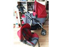 Hauck 3 in 1 Travel System REDUCED PRICE FOR QUICK SALE