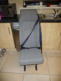 SINGLE VAN SEAT WITH INTEGRAL SEAT BELT