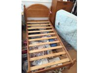 Single 3ft wide traditional Pine bed frame, good condition 1 small scratch, collect from Edin. EH10