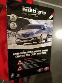 Multi Grip Anti Skid Snow & Ice Wheel covers.