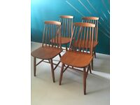 Mid Century Vintage Ercol Style Dining Chairs