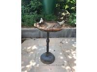 Cast iron bird bath/table
