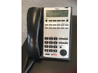 NEC Office Phones - multi line. Model: IP4WW-12TXH-B-TEL (BK)