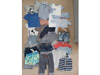 Large bundle gorgeous boys toddlers clothes 9-12 mth & 12-18mth next h&m some new - 29 items