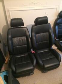 vw bora leather seats black heated