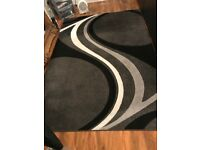 Trendy Rug - black, white, light grey and charcoal grey