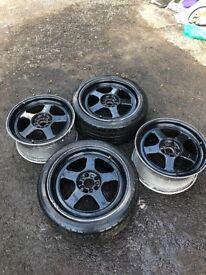 "18"" 5x100 off mk4 golf seat Leon Ibiza alloys wheels"