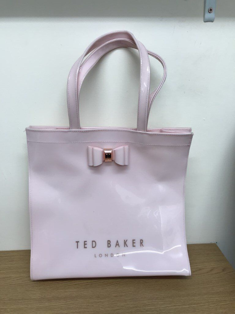 TED BAKER ALACON BOW DETAIL ICON SHOPPER BAG SIZE LARGE PINK 00b2afd20
