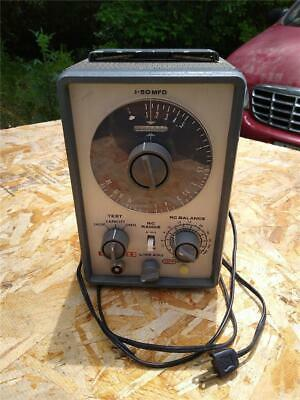 Vintage Eico Model 955 In Circuit And Out Of Circuit Capacitor Tester