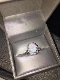 Silver designer ring