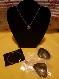 Gift set for Christmas (pearl oysters, bracelet,necklace)