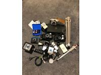 Joblot of cameras and other camera equipment
