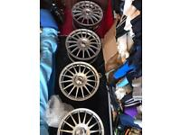 """Team dynamic 16"""" multifit alloys very good condition"""