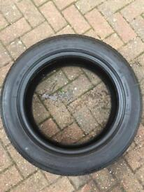 1 x TYRE USED GOODYEAR 215/55/17 6,5mm