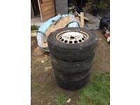 195/65/15 wheels and Tires 5x112 vw caddy/t4 and more