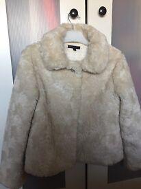 Fur coat Autograph by M&S age 9-10