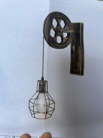 2 x wall sconce industry style wall lights NEW IN BOX