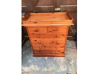 Solid Pine chest of drawers & changing table Local Delivery £50 ONO