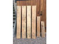 6 wooden shelves
