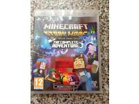 PS3 minecraft complete story mode like new