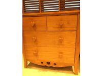 NEXT children's oak bedroom furniture
