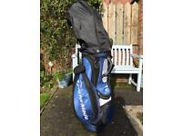 Men's TaylorMade Golf Clubs Set Hardly Used With Trolley