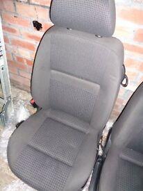 VW POLO 6N2 3 DOOR GREY CLOTH PASSENGER SEAT