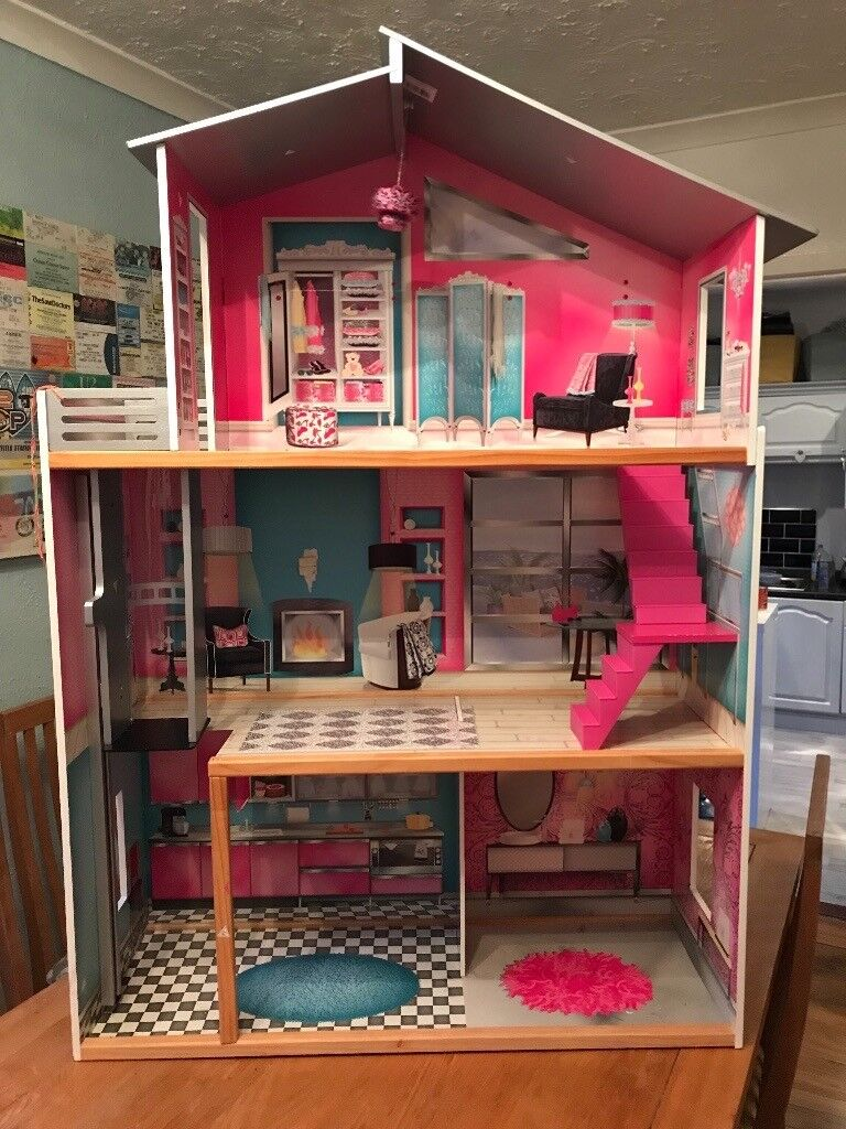 Large Barbie Doll House Very Good Condition Some Furniture