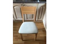 Light Beech Dining Chairs x6