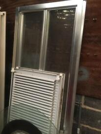 2 Shower doors with chrome frames