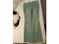 MNG green corduroy jeans