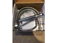 Phoenix 4 hole deck mounted bath shower mixer inc shower kit BN
