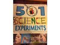 501 science experiments for kids- great fun for them to do on their own or with a parent