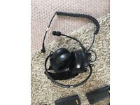 Walkie Talkie radio headset