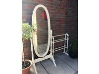 Hand painted furniture - Mirror and Towel/Clothes Rail