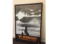 BIG WEDNESDAY SURF FILM FRAMED PRINT