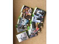 Xbox 360 games batman destiny and halo. Ten altogether