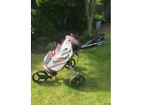 Golf trolley with bag